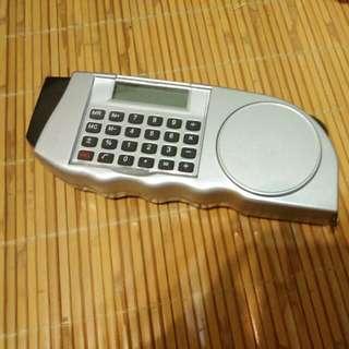 三合一工具(手電筒,計算機,皮尺)