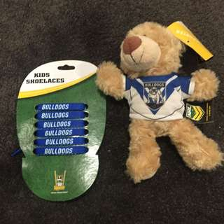 Canterbury Bulldogs Laces And Plush Bear
