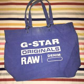 G-Star Unisex Tote bag in blue RAW organic denim