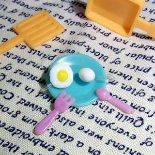 獨家設計煎蛋/雞蛋耳環(矽膠夾式/防敏鋼針)
