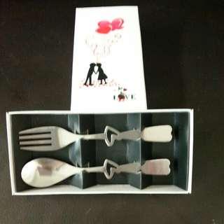 Tea Spoon&Fork Set 50sets