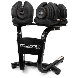 80kg Adjustable Dumbbell Weight Set w/ Stand