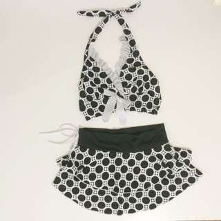 Halter Skirted Bikini   Two Piece