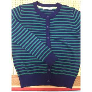 Moussy 正品 條紋 藍綠 針織外套