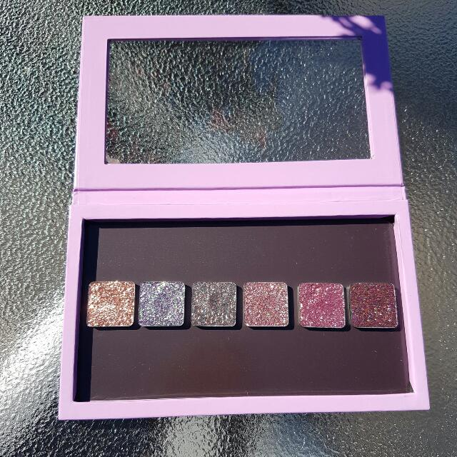 6 Glitter injections pressed glitter plus large Z Palette.