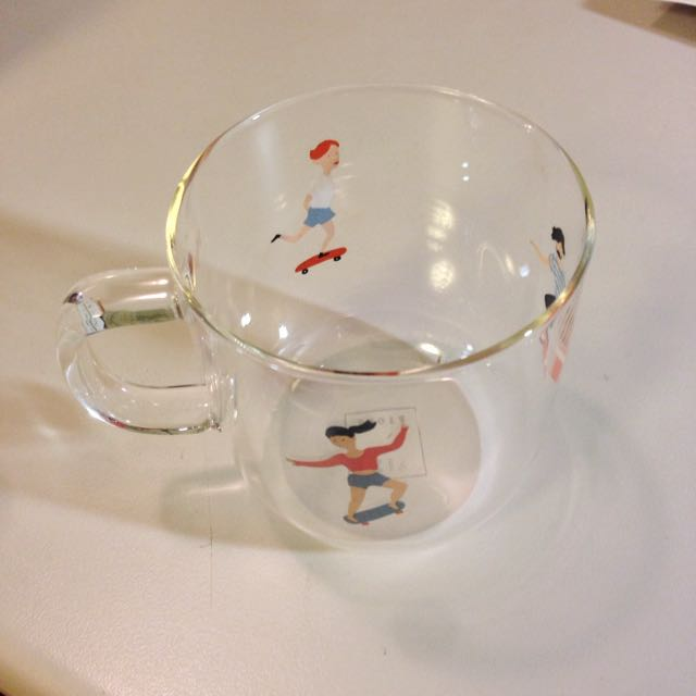 耐熱玻璃杯 滑板少年