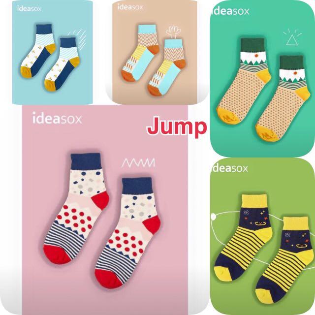 日本 ideasox插畫系列 中筒襪