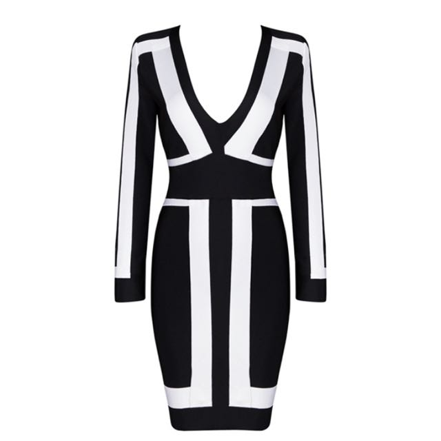Bandage dress Black And White.