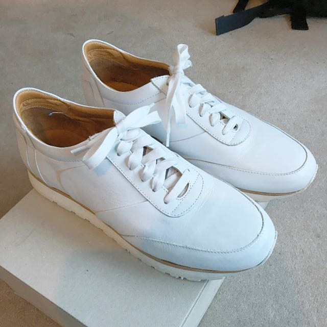 Benjamin Barker White Leather Shoes
