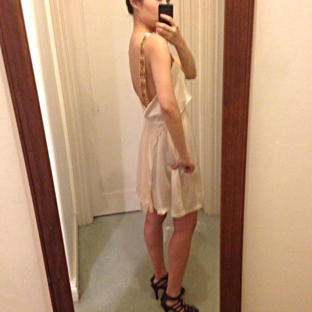 Bettina Liano Backless Silk Dress