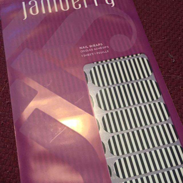 Black & White Stripe Jamberry Wraps