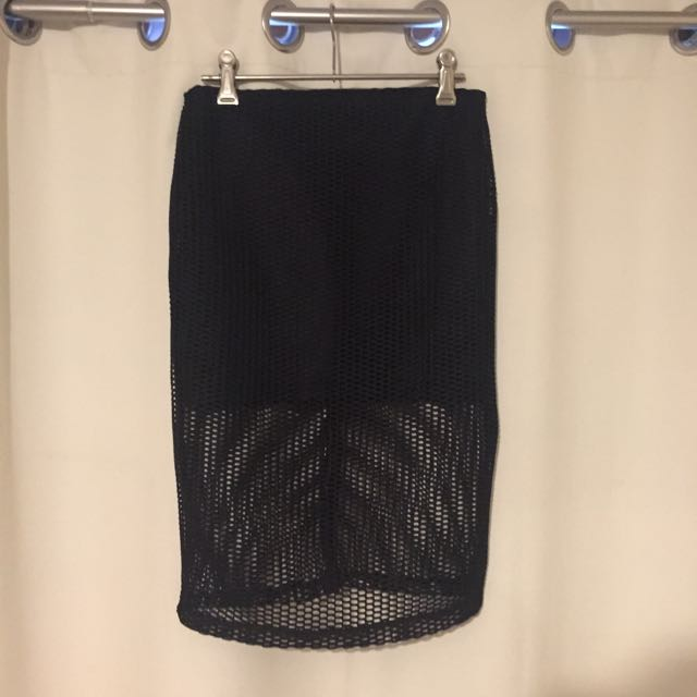 Black Netted Skirt Size 8