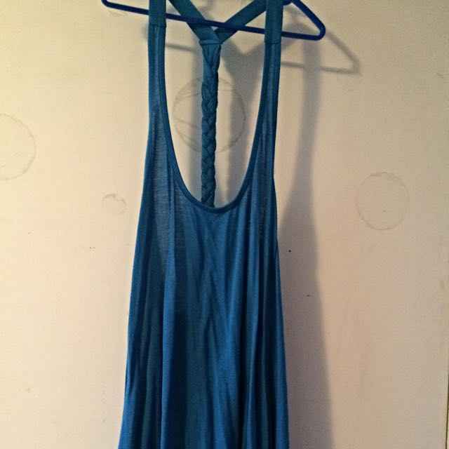 Blue Flower Tank Top.  Size Small