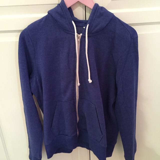 Blue H&M Basic Jacket with Hoodie