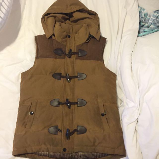 Unisex Brown Vest Size L