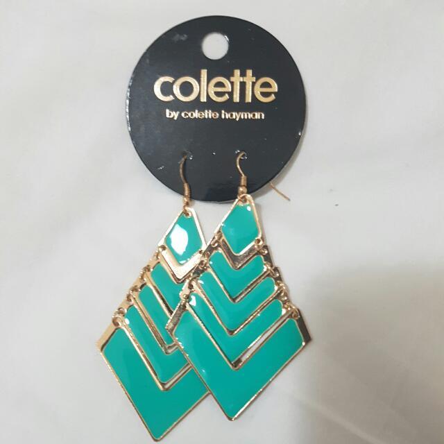 Colette Turquoise Arrow Drop Earrings