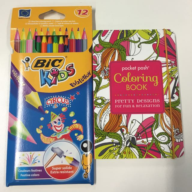 Colouring Book And Coloured Pencils