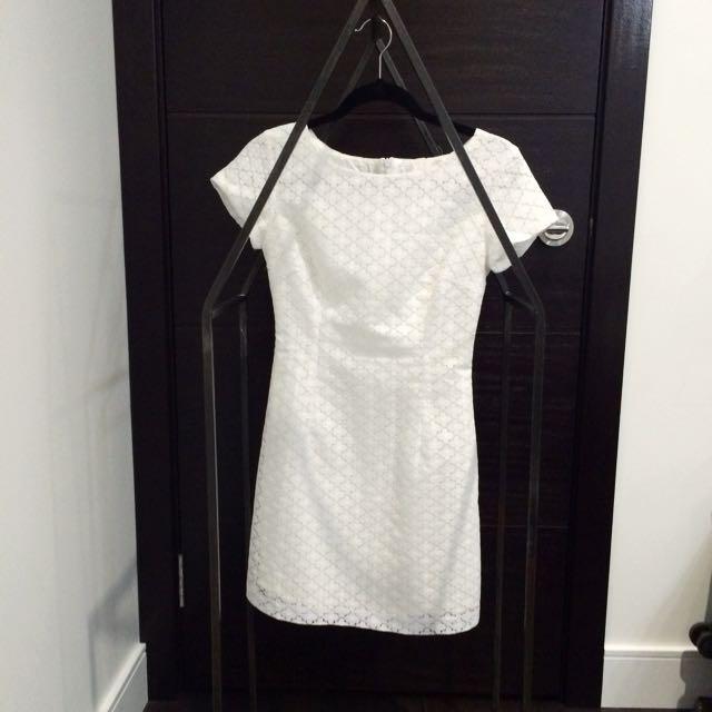 Esprit White Lace Dress