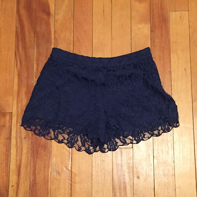 Forever 21 Size XS Navy Blue Lace Shorts