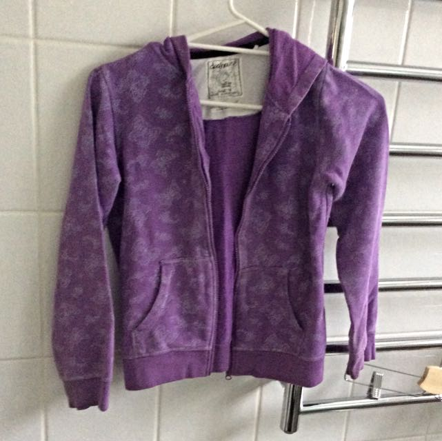 Girls Purple Butterfly Jacket