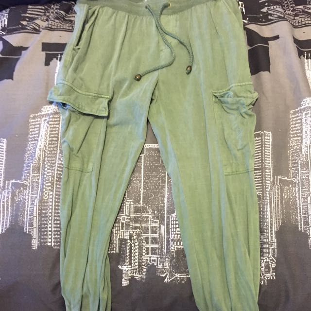 Green Cargo/lounge Pants