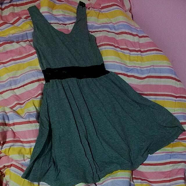 Grey Lace Back H&M Mini Dress