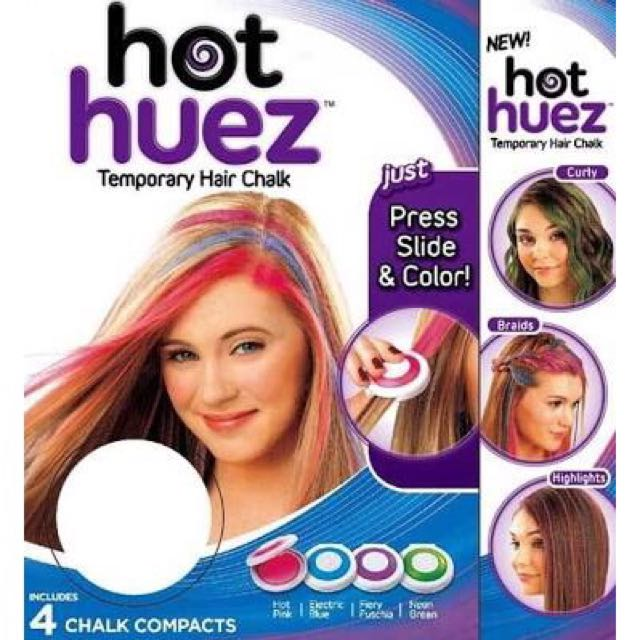 Hot Huez Temporary Hair Chalk Preloved Health Beauty On Carousell