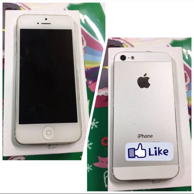 Iphone5  32G 白色 全機 九成九新 盒裝 配件齊全Iphone5 32G white machine 90% nine new boxed accessories completeReasonable price published, please do not bid」