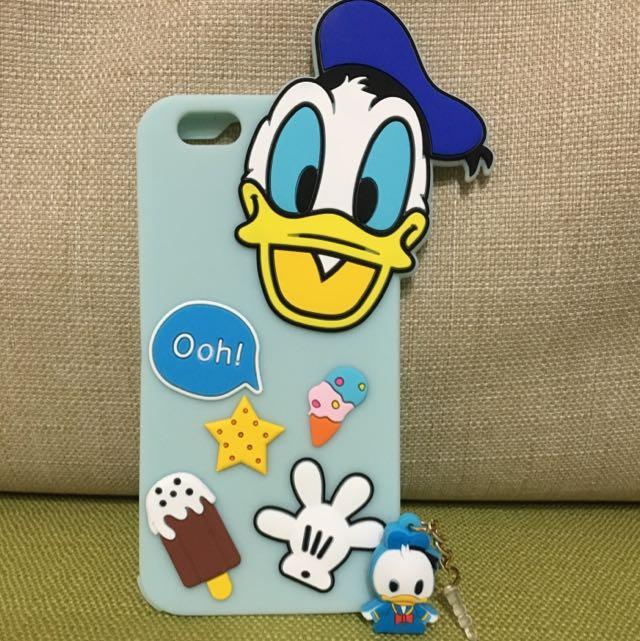 唐老鴨iphone6/6plus矽膠手機殼