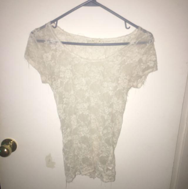 Lacy White Shirt