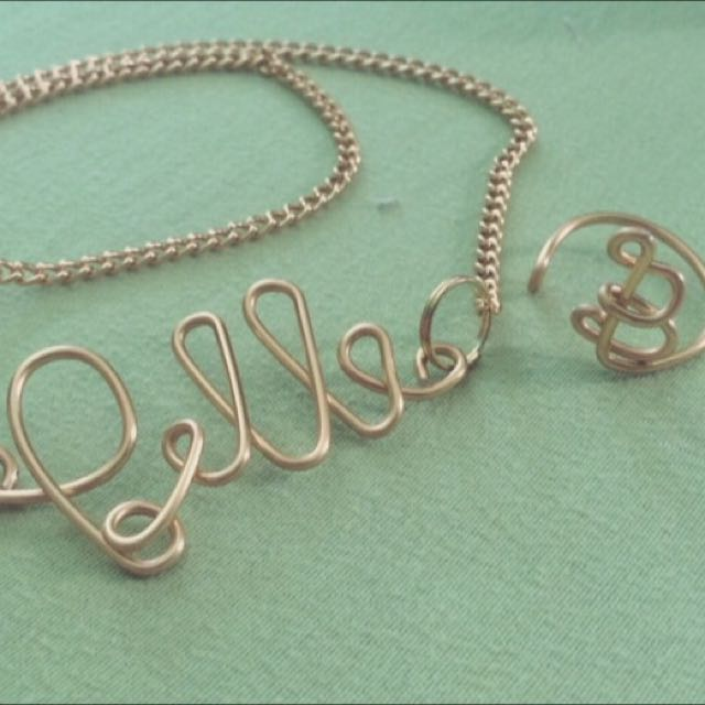 Letter Rings And Necklace
