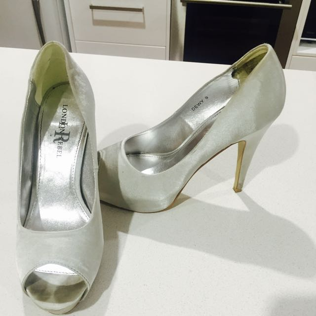 London Rebel Silver Heels