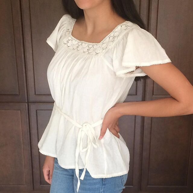 White Boho Chic Top