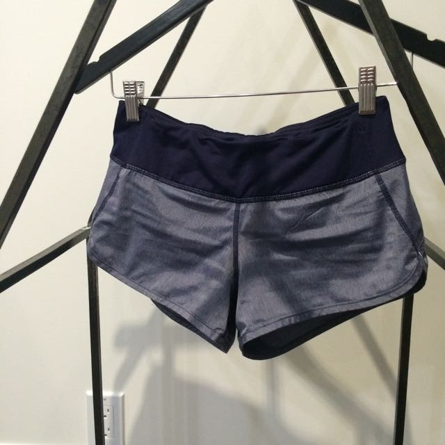 Lululemon Speed Short (blue with thin stripes