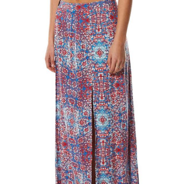 maxi von zipper skirt