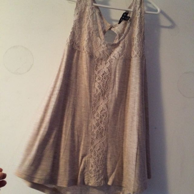 Nude Colour, Flowy Tank Top. Size Small