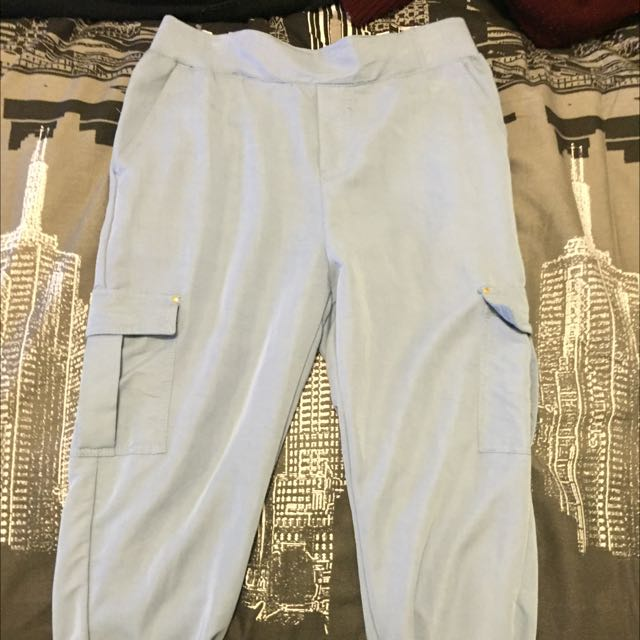 Powder Blue Cargo/lounge Pants