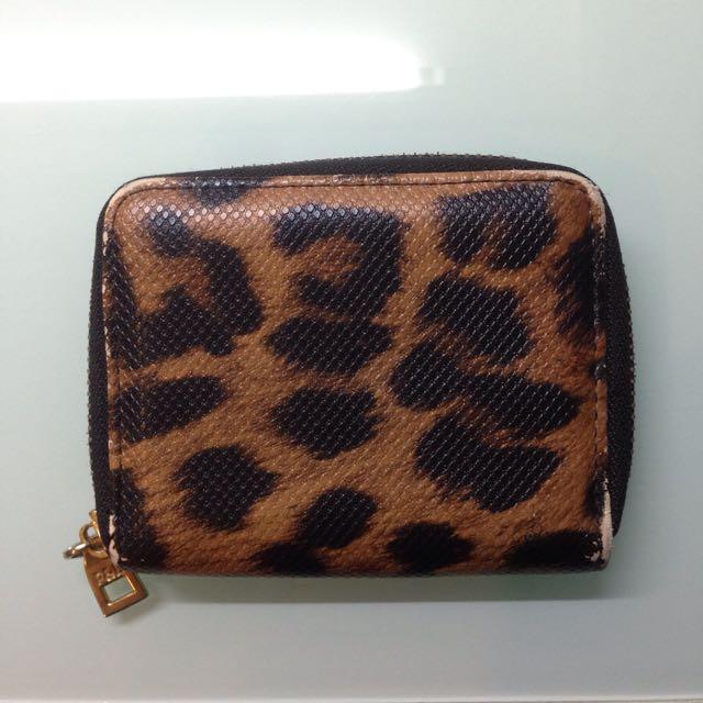 PULL&BEAR Leopard Small Wallet