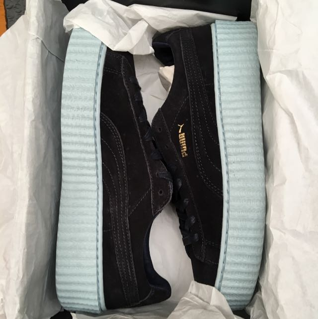 Puma x Fenty Suede Creepers Peacoat Blue 9.5