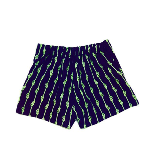 QueenShop 繩文結短褲
