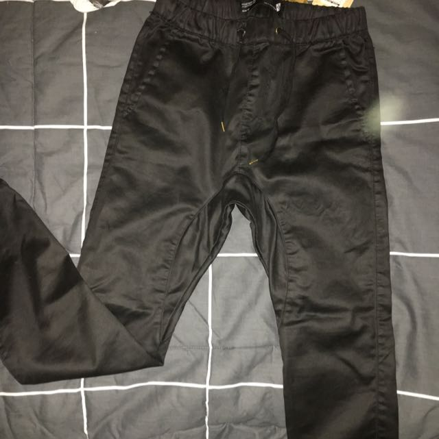 Slim Fight Black Chinos