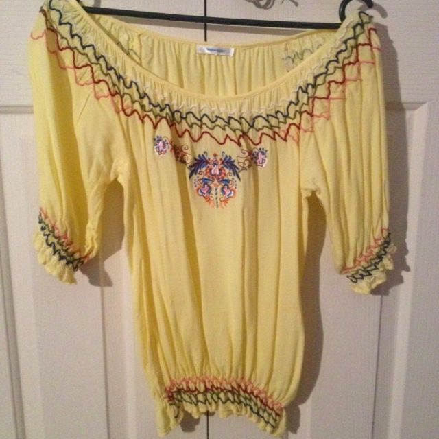 Valleygirl Yellow Gypsy Top