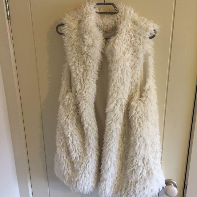 White Fluffy Winter Cardigan
