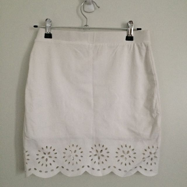 Witchery White Mini Skirt
