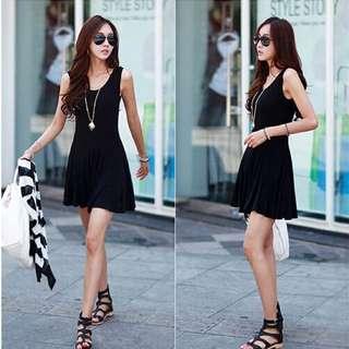 背心連衣裙(黑色)