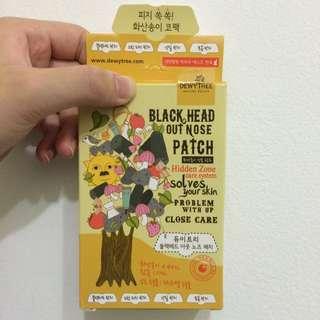 韓國購入 粉刺貼 黑頭貼 Dewy Tree 黑炭鼻頭貼 豬鼻貼