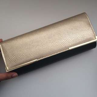 Colette Gold And Black Clutch