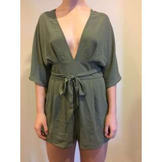 Khaki green playsuit
