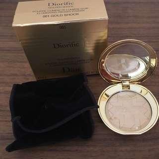 Dior 金燦星光蜜粉盒 #香檳金 聖誕限量版