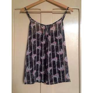 Living Doll Sheer Floral Top